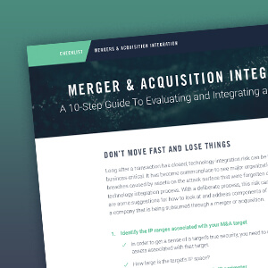 Mergers and Acquisitions Checklist
